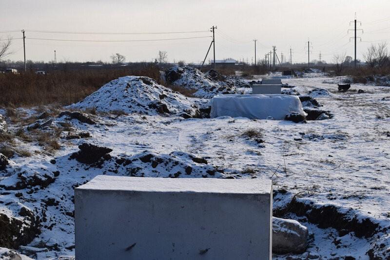 Более 300 свай забито на участке от проектируемой ПНС до ул. Линейная